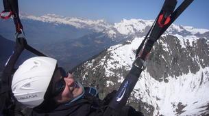 Paragliding-La Clusaz, Massif des Aravis-Tandem paragliding flight over La Clusaz, Haute Savoie-3
