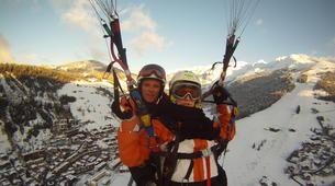 Paragliding-La Clusaz, Massif des Aravis-Tandem paragliding flight over La Clusaz, Haute Savoie-1