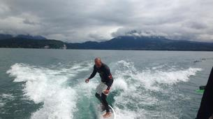 Wakeboarding-Annecy-Boat wakeboarding or wakesurfing beginner private coaching in Lake Annecy-4