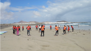 Surf-Caleta de Famara, Lanzarote-Cours de surf à Caleta de Famara, Lanzarote-3