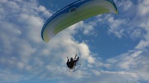 Paragliding-Kefalonia-Tandem paramotor flight over Kefalonia-1