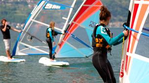 Windsurfing-Lake Como-Windsurfing lessons for adults in Colico, Lake Como-3