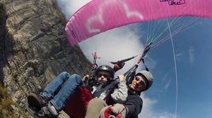 Paragliding-Grenoble-Tandem paragliding flight over Saint Hilaire du Touvet, Grenoble-2