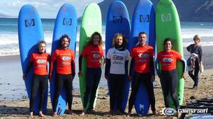 Surf-Caleta de Famara, Lanzarote-Cours de surf à Caleta de Famara, Lanzarote-1