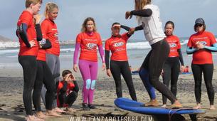 Surf-Caleta de Famara, Lanzarote-Cours de surf à Caleta de Famara, Lanzarote-6