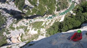 Escalade-Ardèche-Escalade en Grande Voie dans les Gorges de l'Ardèche-1