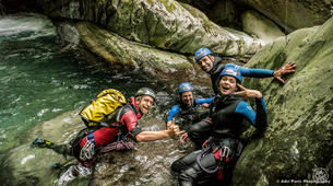Canyoning-Tarascon-sur-Ariège-Initiation canyon de Marc in Ariège-1