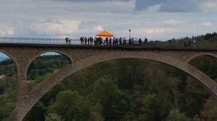 Saut à l'élastique-Lyon-Saut à l'élastique du Viaduc de Pelussin (65 mètres), près de Lyon-5