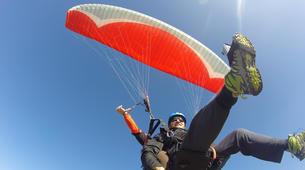 Paragliding-La Clusaz, Massif des Aravis-Tandem paragliding flight over La Clusaz, Haute Savoie-5