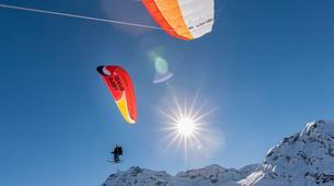 Parapente-Val Thorens, Les Trois Vallées-Vol Hiver Parapente Biplace à Val Thorens-15