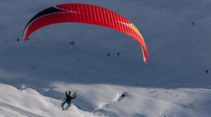 Parapente-Val Thorens, Les Trois Vallées-Vol Hiver Parapente Biplace à Val Thorens-14