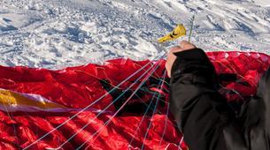 Parapente-Val Thorens, Les Trois Vallées-Vol Hiver Parapente Biplace à Val Thorens-8