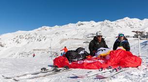 Parapente-Val Thorens, Les Trois Vallées-Vol Hiver Parapente Biplace à Val Thorens-17