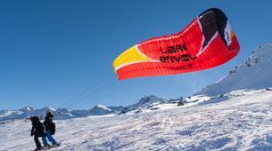 Parapente-Val Thorens, Les Trois Vallées-Vol Hiver Parapente Biplace à Val Thorens-12