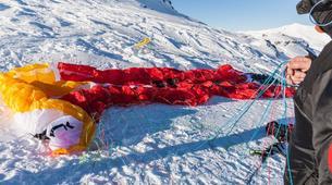 Parapente-Val Thorens, Les Trois Vallées-Vol Hiver Parapente Biplace à Val Thorens-7