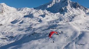 Parapente-Val Thorens, Les Trois Vallées-Vol Hiver Parapente Biplace à Val Thorens-4