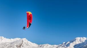 Parapente-Val Thorens, Les Trois Vallées-Vol Hiver Parapente Biplace à Val Thorens-13