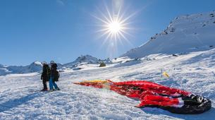 Parapente-Val Thorens, Les Trois Vallées-Vol Hiver Parapente Biplace à Val Thorens-6