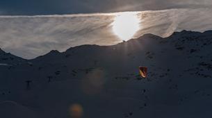 Parapente-Val Thorens, Les Trois Vallées-Vol Hiver Parapente Biplace à Val Thorens-16