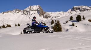 Motoneige-La Plagne, Paradiski-Randonnée en motoneige à La Plagne, en Savoie-3