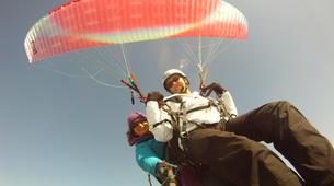 Paragliding-Morzine, Portes du Soleil-Tandem paragliding flight in Morzine - Avoriaz-11