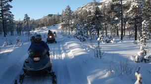 Snowmobiling-Hardangervidda National Park-Snowmobile excursion in Dagali, Geilo-6