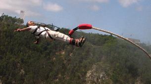 Bungeejumping-Plettenberg Bay-World's highest bridge bungy, 216m from Bloukrans Bridge-9