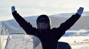Snowmobiling-Hardangervidda National Park-Snowmobile excursion in Dagali, Geilo-4