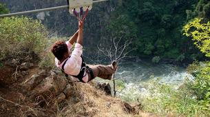 Zip-Lining-Victoria Falls-Bridge slide (Ziplining) along Victoria Falls Bridge-1