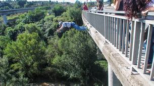 Saut à l'élastique-Barcelone-Saut Pendulaire au Pont de Sant Sadurní d'Anoia, près de Barcelone-2