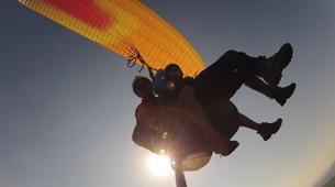 Paragliding-La Clusaz, Massif des Aravis-Tandem paragliding flight over La Clusaz, Haute Savoie-2