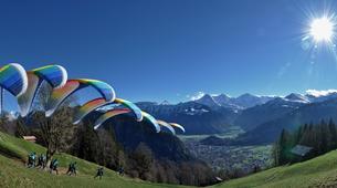 Paragliding-Interlaken-Tandem paragliding flight above Interlaken-5