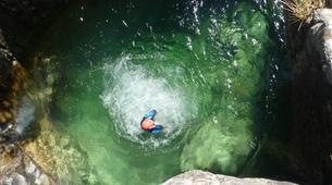 Canyoning-Ajaccio-Descente du canyon de la Richiusa à Bocognano près d'Ajaccio-3