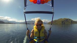 Parasailing-Wanaka-Parasailing flight over Lake Wanaka, New Zealand-4