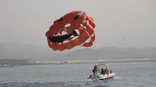 Parachute ascensionnel-Puerto del Carmen, Lanzarote-Vol en Parachute ascensionnel à Puerto del Carmen, Lazarote-7