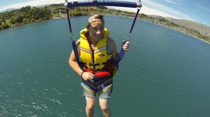 Parasailing-Wanaka-Parasailing flight over Lake Wanaka, New Zealand-2
