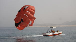 Parachute ascensionnel-Puerto del Carmen, Lanzarote-Vol en Parachute ascensionnel à Puerto del Carmen, Lazarote-6