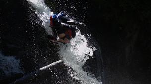 Canyoning-Ardèche-Aerocanyon Ultra avec 360m de Tyroliennes dans les gorges de l'Ardèche-6