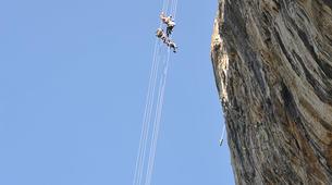 Escalade-Ardèche-Rappel Géant de 180 mètres dans les Gorges de l'Ardèche-5