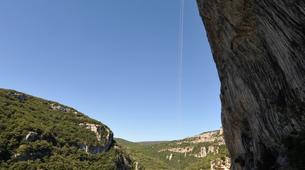 Escalade-Ardèche-Rappel Géant de 180 mètres dans les Gorges de l'Ardèche-2