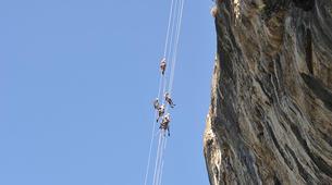 Escalade-Ardèche-Rappel Géant de 180 mètres dans les Gorges de l'Ardèche-4