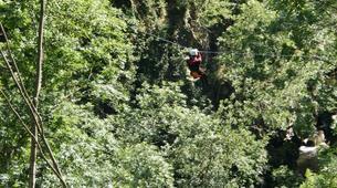 Canyoning-Ardèche-Aerocanyon Ultra avec 360m de Tyroliennes dans les gorges de l'Ardèche-3