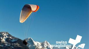 Paragliding-Interlaken-Tandem paragliding flight in Beatenberg near Interlaken-3