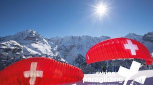 Paragliding-Interlaken-Tandem paragliding flight in Beatenberg near Interlaken-2