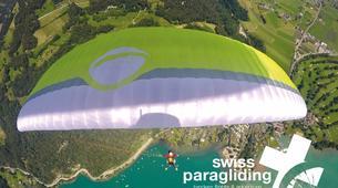 Paragliding-Interlaken-Tandem paragliding flight in Beatenberg near Interlaken-5