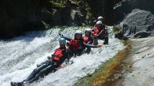Canyoning-Riserva Naturale Orientata Bosco di Malabotta-Water trekking on the Alcantara river in Sicily-1