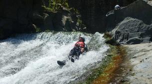 Canyoning-Riserva Naturale Orientata Bosco di Malabotta-Water trekking on the Alcantara river in Sicily-3