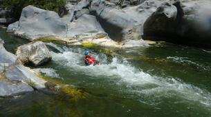 Canyoning-Riserva Naturale Orientata Bosco di Malabotta-Water trekking on the Alcantara river in Sicily-5