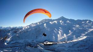 Paragliding-Queenstown-Tandem paragliding flight over Queenstown, New Zealand-3