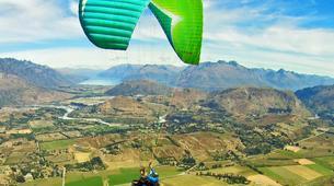 Paragliding-Queenstown-Tandem paragliding flight over Queenstown, New Zealand-4